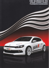 Scirocco RS Turbocharged SKN Tuning brochure, 6 pages,  German language, 11/2009
