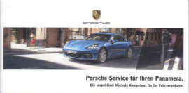 Panamera service brochure, 12 smaller pages, 03/2017, German language
