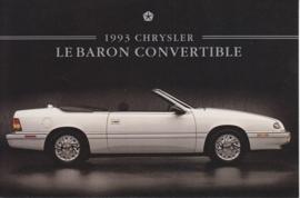 Le Baron Convertible, US postcard, continental size, 1993