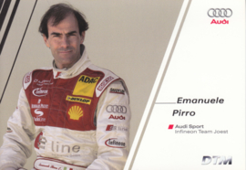DTM racing driver Emanuele Pirro, unsigned postcard 2004 season, German language