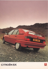 BX GTi 4x4, A6-size postcard, UK issue, about 1990