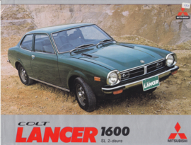 Colt Lancer 1600 SL 2-door leaflet, 2 pages, 12/1974, Dutch language