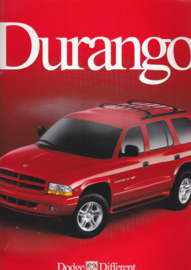Durango brochure, 34 large pages, 07/1999, English language, USA