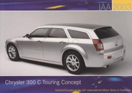 Chrysler 300 C Touring Concept, A6-size postcard, IAA 2003
