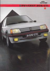 205 GTi brochure, 16 pages, A4-size, 1984, Dutch language