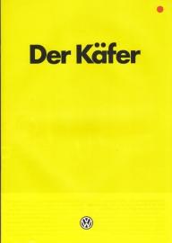 Beetle 1200cc brochure, 16 pages,  A4-size, German language, 06/1985