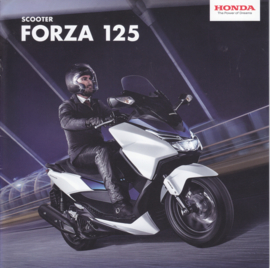 Honda Forza 125 Scooter brochure, 12 pages, about 2016, Dutch language