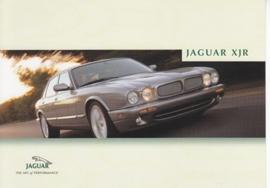 XJ R Sedan, large postcard, 16 x 11 cm, Bologna motorshow 2000