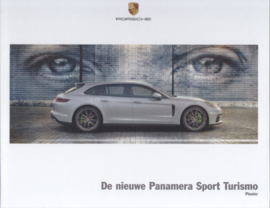 Panamera Sport Turismo brochure, 40 large pages, A4-size, 03/2017, hard covers, Dutch language