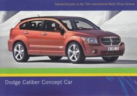 Dodge Caliber Concept car, A6-size postcard, Geneva 2005
