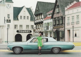 Impala Custom Coupe 1970, A6 size postcard, 100 years of Chevrolet by GM Europe, 2011