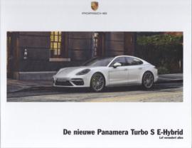 Panamera Turbo S E-Hybrid brochure, 40 large pages, A4-size, 02/2017, hard covers, Dutch language