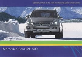 Mercedes-Benz ML 500, A6-size postcard, Geneva 2005