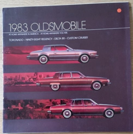 Toronado/98/Delta 88/Custom Cruiser brochure 1983, 34 large pages, 08/1982, USA