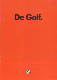 Golf brochure, 28 pages,  A4-size, Dutch language, 01/1982