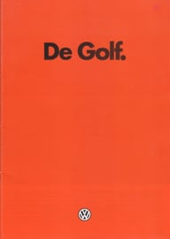 Golf brochure, 28 pages,  A4-size, Dutch language, 01/1983