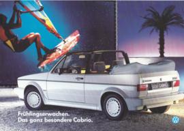 Golf Cabriolet leaflet, A4-size, 2 pages, German language, about 1989