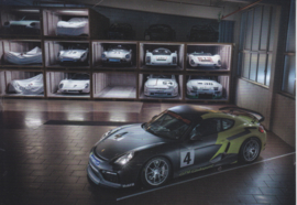 Cayman GT4 Clubsport,  A6 postcard, 2016,  German language