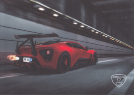 Zenvo TS1 sports car, A5-size postcard, factory-issued, 2018, month: July