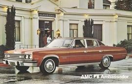 Ambassador Sedan, US postcard, standard size, 1974