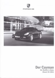 Cayman pricelist, 106 pages, 04/2011, German