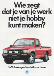 Taro Pick-up brochure, 6 pages,  A4-size, Dutch language, about 1989