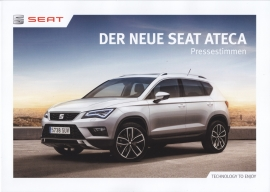 Ateca press opinions brochure, 6 pages, 04/2016, German language