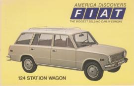 124 Station Wagon, standard size, US postcard, 1973
