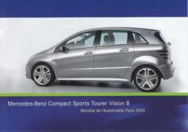 Mercedes-Benz Compact Sports Tourer Vision B, A6-size postcard, Paris 2004