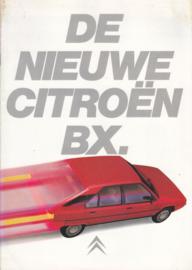 BX brochure, 16 pages, 1983, Dutch language