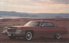Sedan DeVille, US postcard, standard size, 1976