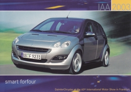Smart Forfour, A6-size postcard, IAA 2003