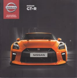 Nissan GT-R sportscar brochure, 52 pages, 10/2016, English language