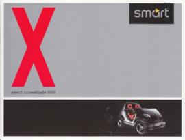 Crossblade brochure + specs. leaflet,  8 pages, 02/2002, German