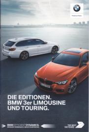 3-Series Sedan & Break brochure, 8 pages, 2017, German language