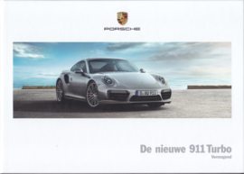 911 Turbo new model (991 II) brochure, 120 pages, 12/2015, hard covers, Dutch