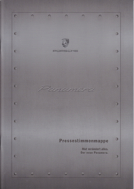 Panamera new model Press opinions brochure, 24 pages, 2016, German language