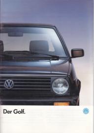 Golf brochure, 44 pages,  A4-size, German language, 08/1990