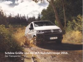 Transporter, larger size postcard, 18 x 13,5 cm, 2016, German