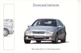 Mercedes-Benz C 230 Kompressor, A6-size postcard, Geneva 2001