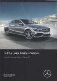 CLA Coupé Business Solution special edition brochure, 4 pages, 01/2017, Dutch language