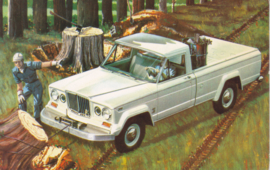 Winches on Jeep 4WD's, standard-size postcard, 1964
