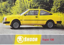 Rapid 130 Coupe leaflet, 2 pages, German language, about 1985