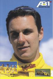 TT with racing driver Laurent Aiello, unsigned postcard 2001 season, German language