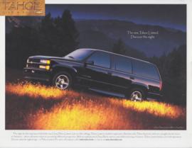 Tahoe Limited 2000, leaflet, English language, USA