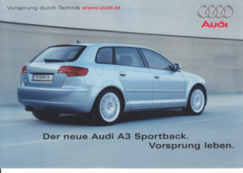 A3 Sportback postcard, A6-size, German language, 12/2004, Austria