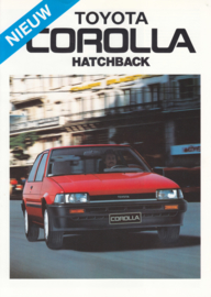 Corolla Hatchback brochure, 4 pages, 1985, Dutch language