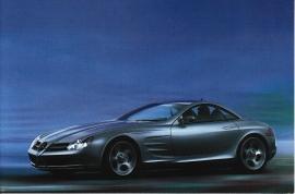 Mercedes-Benz Vision SLR, A6-size postcard, NAIAS 1999, English