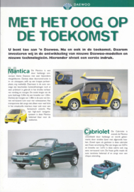 Mantica & Cabriolet leaflet,  1 page,  about  1997, Dutch language