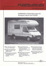 Ford & VW Campers by Karmann brochure, 2 pages, about 1987, German language